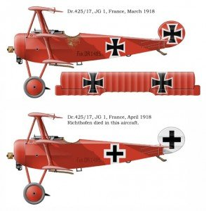 Fokker Dr1  152/17 (?) Jasta 11/JG 1 Manfred  von  Richthofen April 1917